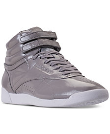 Reebok Women's Freestyle Hi Top Iridescent Casual Sneakers from Finish Line