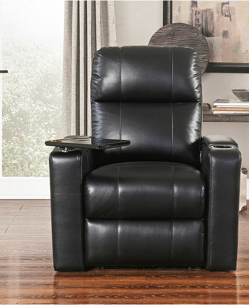 Abbyson Living Thomas Leather Power Recliner Quick Ship
