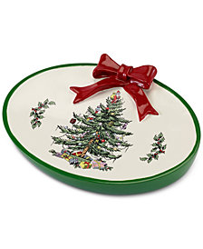 CLOSEOUT! Avanti Spode Christmas Tree Soap Dish