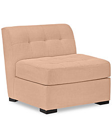 "Roxanne II 33"" Performance Fabric Armless Chair - Custom Colors, Created for Macy's"