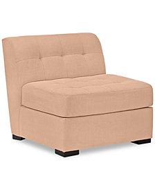 "Roxanne II 33"" Performance Fabric Armless Chair - Custom Colors, Created for Macy's"