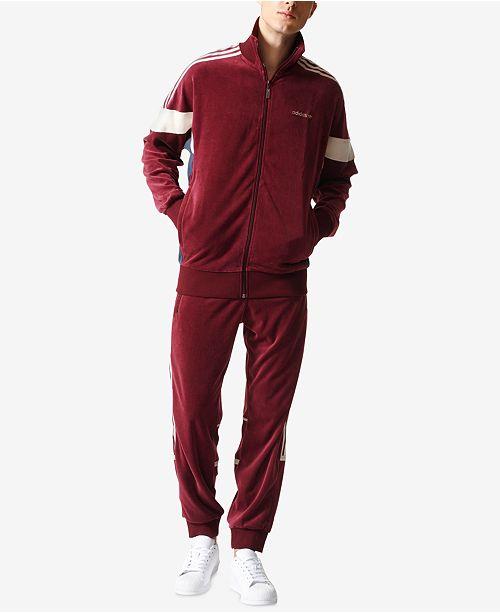 e2266d0f2b1b adidas Men s Challenger Velour Track Suit  adidas Men s Challenger Velour  Track ...