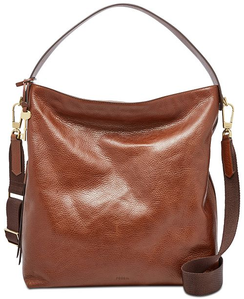 ed8693ee43e59 Fossil Maya Pebble Leather Hobo   Reviews - Handbags   Accessories ...