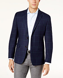 Lauren Ralph Lauren Men's Slim-Fit Ultraflex Blue/Black Plaid Wool Sport Coat