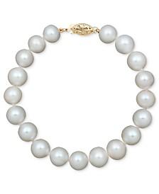 Belle de Mer Pearl Cultured Freshwater Pearl Strand Bracelet in 14k Gold (8-1/2-9-1/2mm)