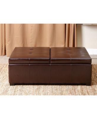 Abbyson Living Drake Double Flip Storage Ottoman, Quick Ship   Furniture    Macyu0027s