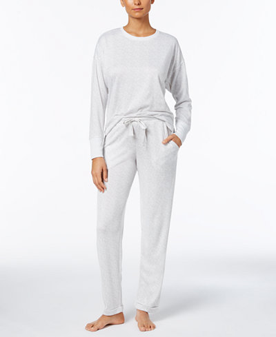 Ande High-Low-Hem Pajama Top & Pants Sleep Separates