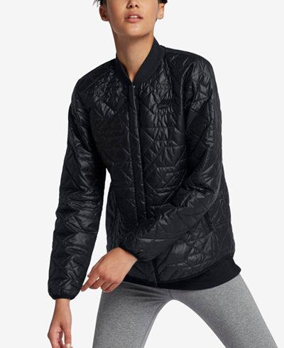 Nike Sportswear Quilted Jacket - Jackets - Women - Macy's : quilted sweaters - Adamdwight.com