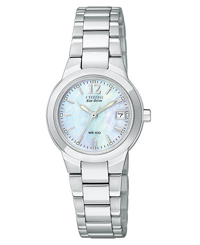 Citizen Women's Eco-Drive Sport Stainless Steel Bracelet Watch 26mm EW1670-59D
