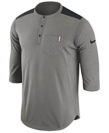 Nike Men's Purdue Boilermakers Dri-Fit Henley T-Shirt