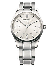 Victorinox Swiss Army Men's Alliance Stainless Steel Bracelet Watch 40mm 241476