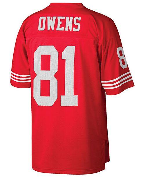 quality design e1ce8 ac1d4 Men's Terrell Owens San Francisco 49ers Replica Throwback Jersey