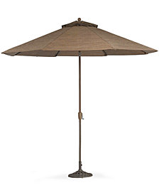 CLOSEOUT! Oasis Outdoor 11' Patio Umbrella  & Base, Created for Macy's