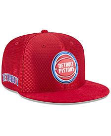 New Era Detroit Pistons On Court Reverse 9FIFTY Snapback Cap