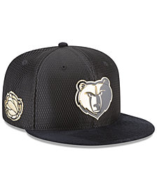 New Era Memphis Grizzlies On-Court Black Gold Collection 9FIFTY Snapback Cap