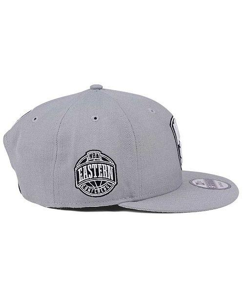 sale retailer 64c08 b66ce New Era Brooklyn Nets Gray Pop 9FIFTY Snapback Cap ...