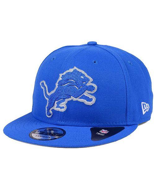 sports shoes 07f01 83822 ... New Era Detroit Lions Chains 9FIFTY Snapback Cap ...