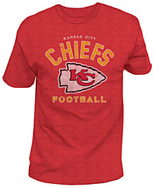 Authentic NFL Apparel Men's Kansas City Chiefs Midfield Retro T-Shirt