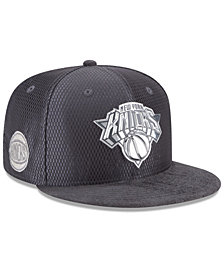 New Era New York Knicks On-Court Graphite Collection 9FIFTY Snapback Cap