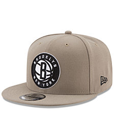 New Era Brooklyn Nets Tan Top 9FIFTY Snapback Cap