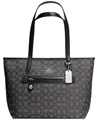 c58aaddbc5 COACH Taylor Tote in Signature Jacquard   Reviews - Handbags   Accessories  - Macy s