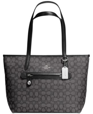 coach taylor tote in signature jacquard handbags accessories rh macys com