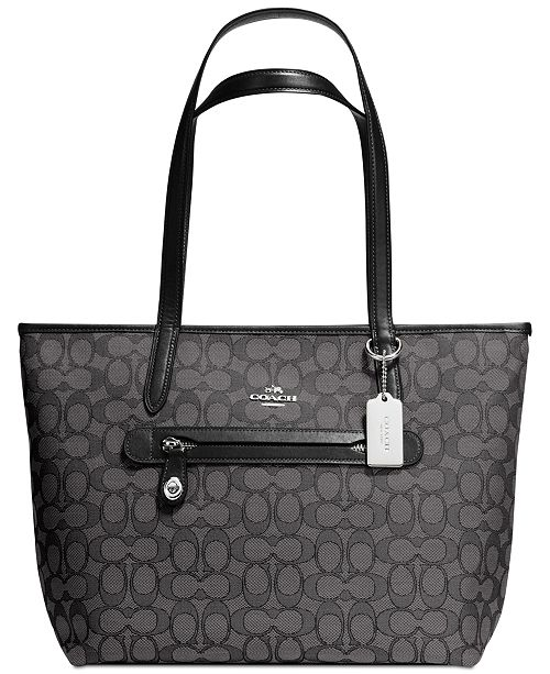 COACH Taylor Tote in Signature Jacquard   Reviews - Handbags ... 88c4d2649db94