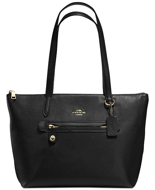 2e2e12d9c1 COACH Taylor Tote in Pebble Leather & Reviews - Handbags ...