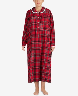 Victorian Nightgowns, Nightdress, Pajamas, Robes Lanz of Salzburg Ballet Plus Size Lace-Trim Cotton Nightgown $53.99 AT vintagedancer.com