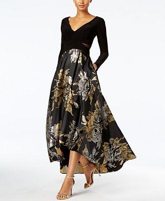 Xscape High Low Brocade Gown Dresses Women Macys