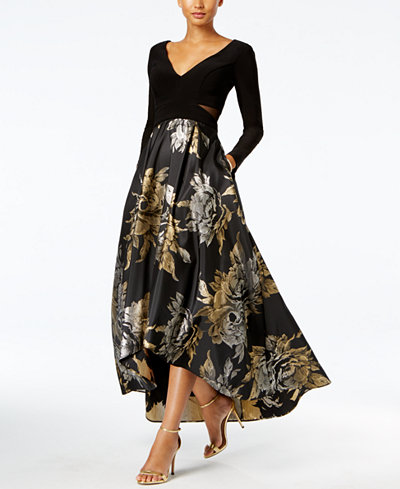 Xscape High Low Brocade Gown Dresses Women Macy S