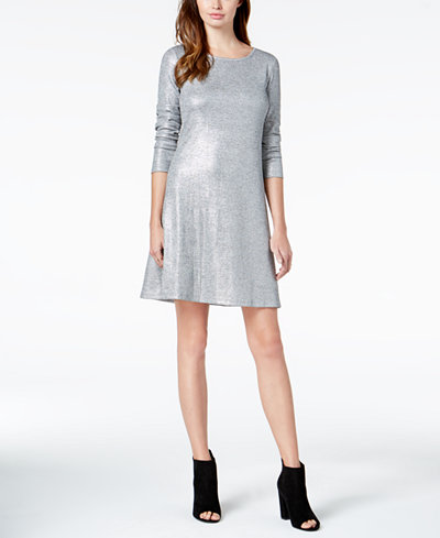 Bar III Sequined Shift Dress, Created For Macy's