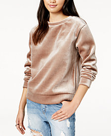 Glam by Glamorous Velvet Sweatshirt, Created for Macy's