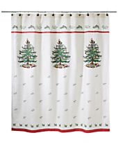 CLOSEOUT! Avanti Spode Christmas Tree Shower Curtain