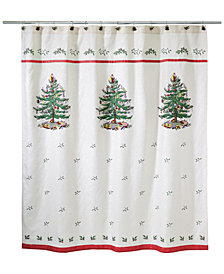 Avanti Spode Christmas Tree Shower Curtain