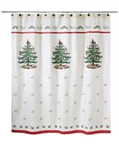 Avanti Spode Christmas Tree Shower Curtain