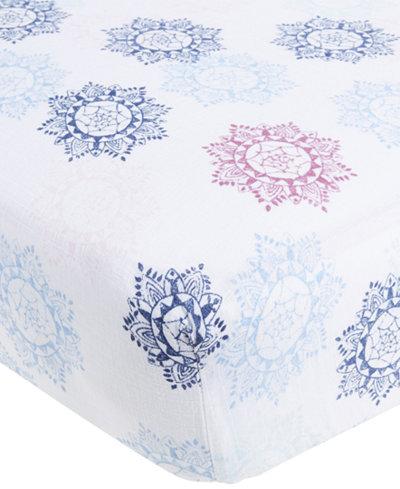 aden by aden + anais Cotton Pretty Printed Crib Sheet, Baby Girls