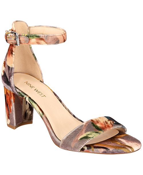 01f54a28140 Nine West. Pruce Block-Heel Sandals. Be the first to Write a Review. main  image