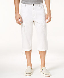I.N.C. Men's Linen Messenger Cargo Shorts