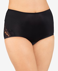 Vanity Fair Perfectly Yours® Lace Nouveau Nylon Brief Underwear 13001, also available in extended sizes
