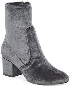 Ivanka Trump Presli Velvet Sock Booties