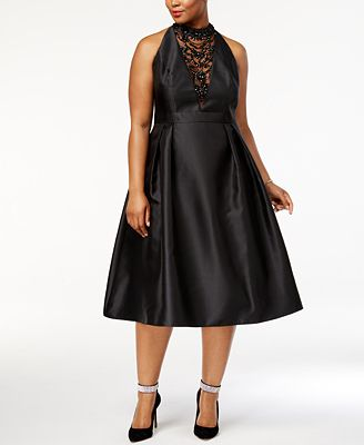 Adrianna Papell Plus Size Embellished Fit & Flare Dress