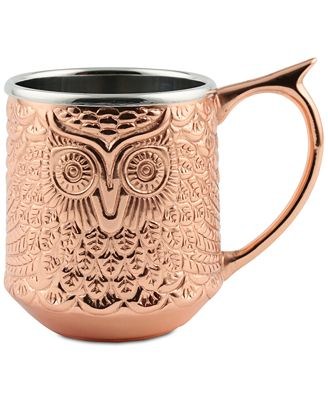 CLOSEOUT! Thirstystone Cladded Copper Owl Mug
