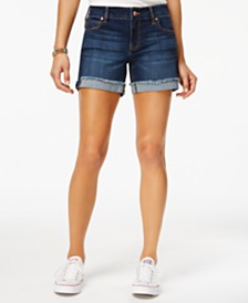 "Celebrity Pink Juniors' 5"" Cuffed Denim Short"