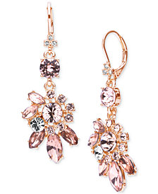 Marchesa Crystal Cluster Drop Earrings