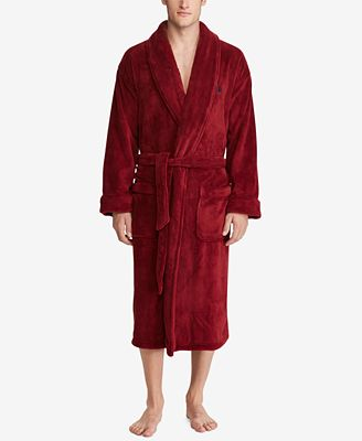 Polo Ralph Lauren Men's Plush Shawl-Collar Robe