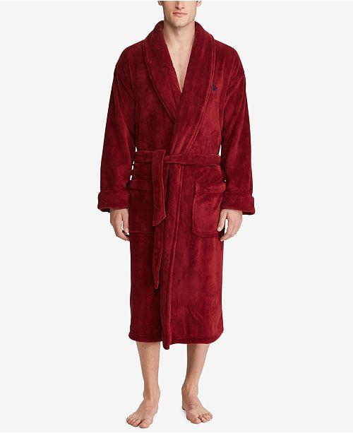 Polo Ralph Lauren Men's Plush Shawl-Collar Robe