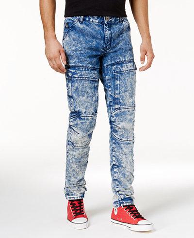 American Stitch Men's Skinny Fit Moto Jeans