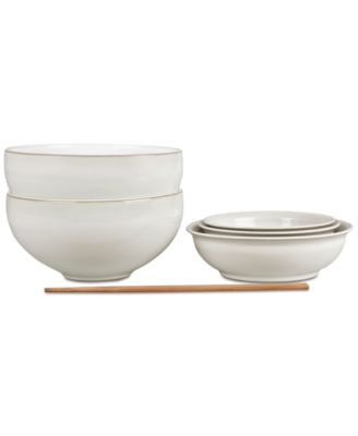 Natural Canvas 7-Pc. Asian Set  sc 1 st  Macyu0027s & Denby Natural Canvas Collection - Dinnerware - Dining u0026 Entertaining ...