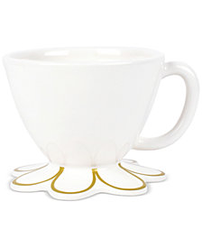 Coton Colors Scallop-Edge Gold Mug